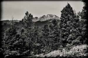 Pike's Peak B&W